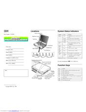 Ibm ThinkPad 380Z Manuals