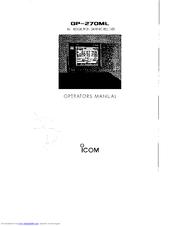 Icom GP-270 Manuals
