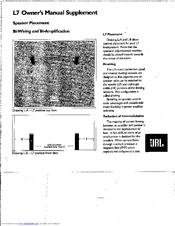 Jbl L7 Manuals