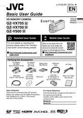 Jvc Everio GZ-VX700 Manuals