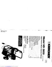 Kärcher HD 3600 Manuals