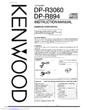 Kenwood DP-R894 Manuals