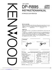 Kenwood DP-R895 Manuals