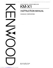 Kenwood KM-X1 Manuals