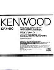 Kenwood DPX-600 Manuals