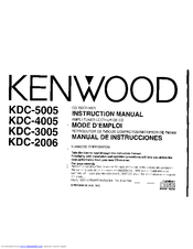Kenwood KDC-3005 Manuals
