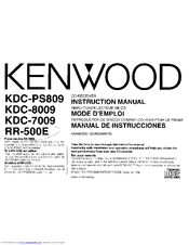 Kenwood KDC-PS809 Manuals
