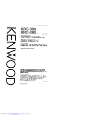 Kenwood KRC-380 Manuals