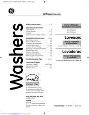 Ge WCVH4800KWW Manuals