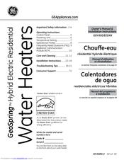 Ge GeoSpring GEH50DEEDSR Manuals