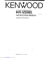 Kenwood KR-V5580 Manuals