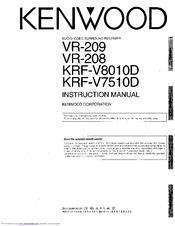 Kenwood VR-208 Manuals