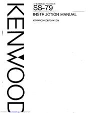 Kenwood SS-79 Manuals