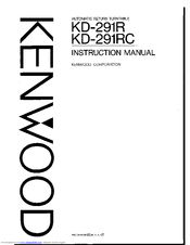 Kenwood KD-291R Manuals
