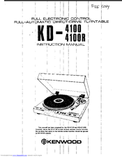 Kenwood KD-4100R Manuals