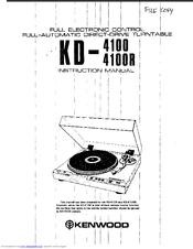 Kenwood KD-4100 Manuals