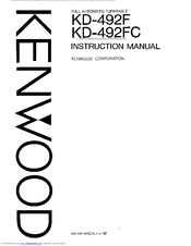 Kenwood KD-492F Manuals