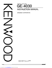 Kenwood GE-4030 Manuals