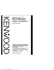 Kenwood KCA-R2FMA Manuals