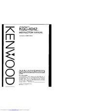 Kenwood KGC-4042 Manuals