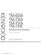 Kenwood TM-731E Manuals