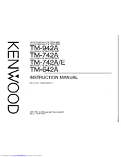 Kenwood TM-742E Manuals
