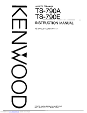 Kenwood TS-790E Manuals