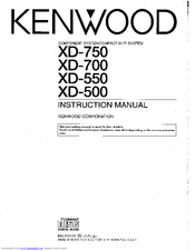 Kenwood XD-750 Manuals