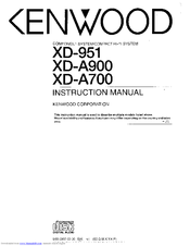 Kenwood RXD-A700 Manuals