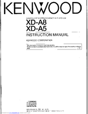 Kenwood XD-A5 Manuals
