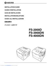 Kyocera ECOSYS FS-4000DN Manuals