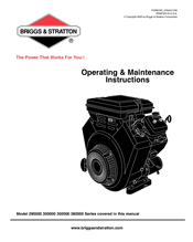 Briggs & Stratton Vanguard 380000 Manuals