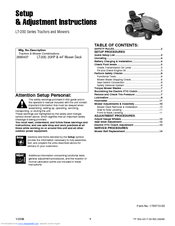 Snapper LT-200 Series Manuals