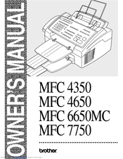 Brother MFC-4350 Manuals