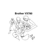 Brother vx780 Manuals
