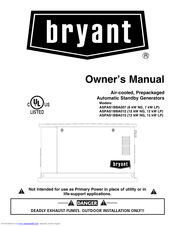 Bryant ASPAS1BBA015 Manuals