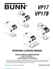 Bunn VP17-3 Manuals