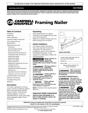 Campbell Hausfeld NS219500 Manuals