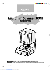 Canon Microfilm Scanner 300II Manuals