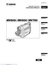 Canon MV800i Manuals