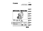 Canon MV MVX30i Manuals