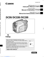Canon DC220 Manuals