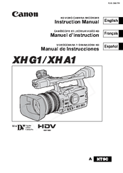 Canon XHG1 Manuals