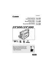 Canon ZR300 Manuals