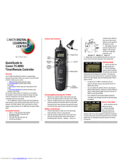 Canon TIMER REMOTE CONTROLLER TC-80N3 Manuals