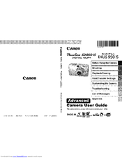 Canon PowerShot SD850 IS Digital ELPH Manuals