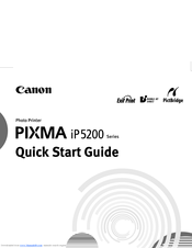 Canon Pixma iP5200 Series Manuals