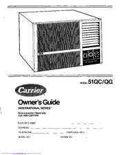 Carrier 51QC Manuals