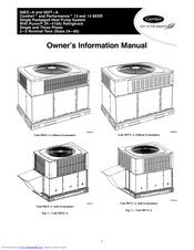 Carrier COMFORT 50EZ-A Manuals
