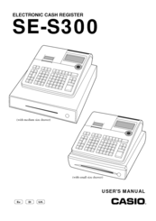Casio SE-S300 Manuals